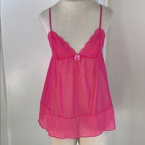 Victoria's Secret Angels pink sheer lingerie slip
